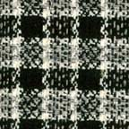 black white gray plaid silk fabric