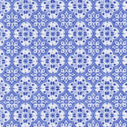 blue white geometric cotton fabric