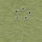 Linen, Other Blends: sage green embroidered eyelet