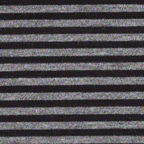 Rayon knits: black & heather gray 1/8th inch stripes