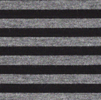 Rayon knits: black & heather gray 1/4 inch stripes