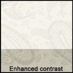 Linings: Concerto paisley in white