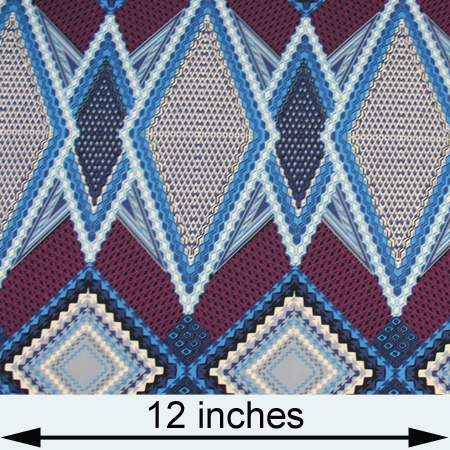 Knits, other: purple, blue white & gray geometric