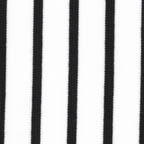 Knits, other: black stripes on white