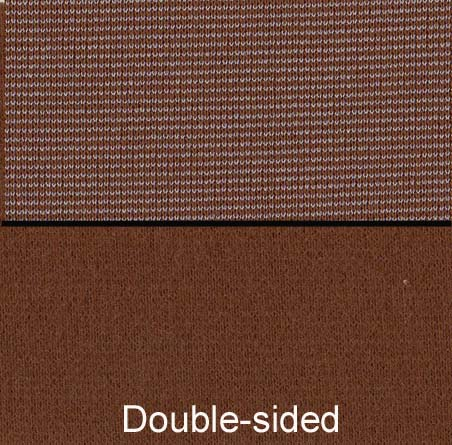 Knits, other: brown double-faced doubleknit
